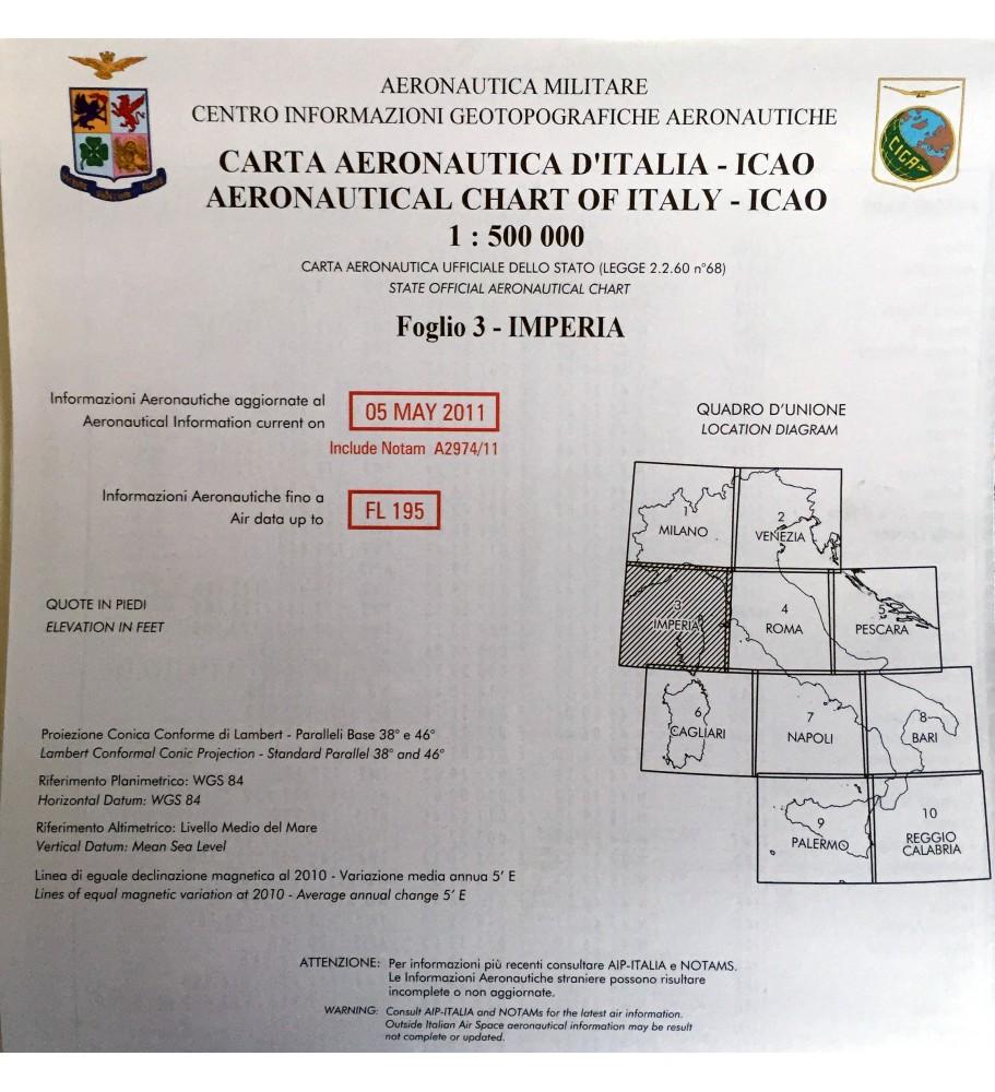 ICAO-OACI chart Sheet 3 - Imperia (2011)