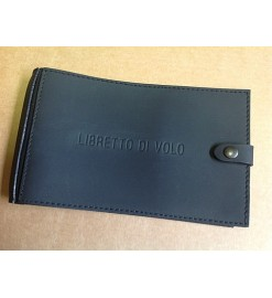 Leather logbook cover - Black